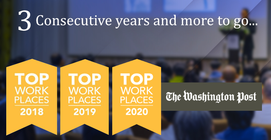 Top Workplaces for 3 consecutive years!
