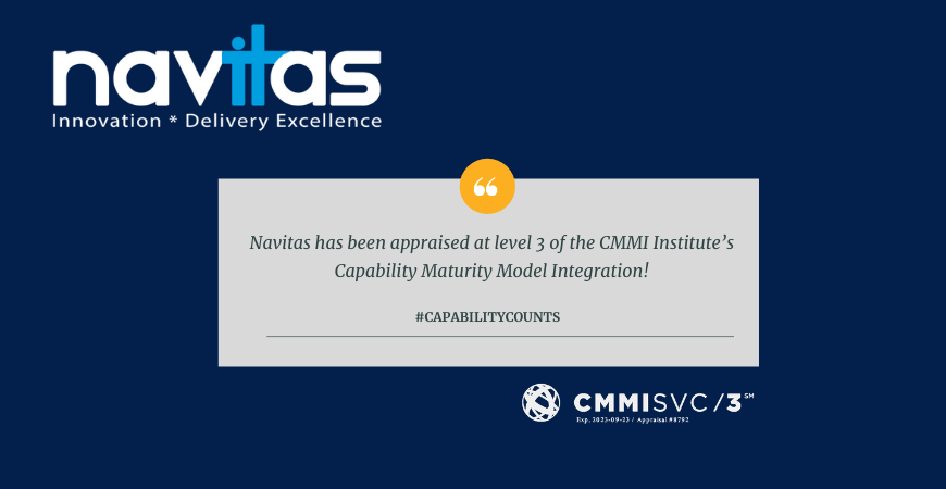 Navitas Business Consulting Appraised at CMMI Level 3