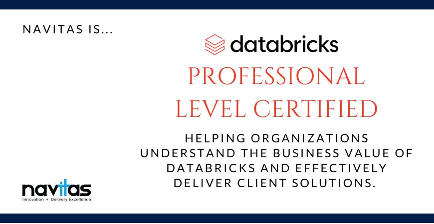 Navitas is Databricks Professional Level certified!