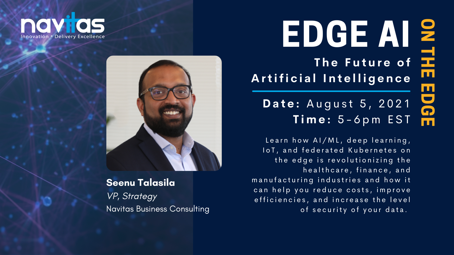 Save the Date! Navitas Presents: Edge AI - The Future of Artificial Intelligence