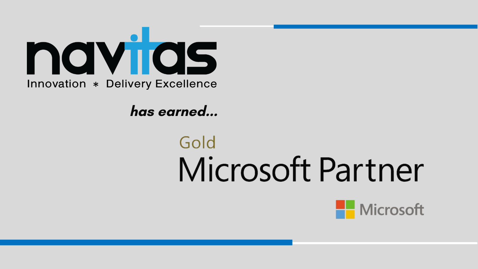 Navitas Business Consulting Earns Certified Microsoft Gold Partner Status