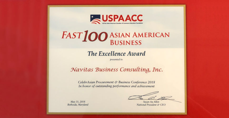 FAST 100 Asian American Business Awards 2018